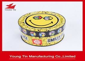 Games Children Gifts Packaging Tin Box CMYK Printing Shinny Finish Outside