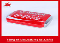 China Rectangle Lip Smacker Metal Cosmetic Tins Recyclable 150 x 85 x 30 MM With Embossing factory