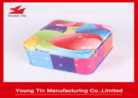 China Colorful Gift Packaging Square Tin Containers With Lids Eco - Friendly Customized company