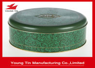 China Matt Finished Round Cookie Gift Tins With Lids , Food Grade CMYK Printed Cylinder Biscuit Tin factory