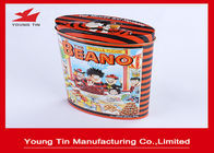 China Metal Candy Packaging Oval Tin Box , Tin Containers With Custom Logo Printing and Embossing factory
