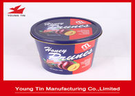 China Reuseable Round Gift Tins YT1076 , Large Dried Foods Packaging Container With Lids factory