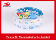 China Embossed Small Flat Round Tin Containers Lids Attached For Games Cards And Dices company