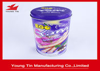 China Egg Rolls Packaging Round Cylinder Gift Tin Box Custom Artwork CMYK Printed company