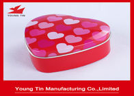 CMYK Offset Printed Heart Shaped Tin Box For Wedding Candy Sweets Gifts Packaging