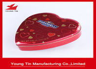 China Chocolate Gifts Packaging Heart Shaped Tin Box , Full Color Printed Heart Shaped Tin Containers company