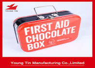 China Rectangle First Aid Chocolate Tin Boxes , Full Color CMYK Printing Tins Of Chocolates company
