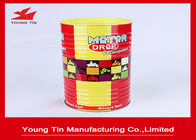 China Cylinder Round Food Cookie Gift Tins , CMYK Printed Outside Glossy Finished Biscuit Tin Box factory