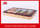 China Large Rectangle Cookie Packaging Gift Tins Box With CMYK Printing Shiny Finish company
