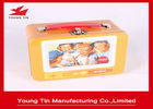 China Custom Artwork Printing Cookie Gift Tins With Plastic Handle , Full Color Tin Lunch Box company
