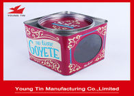 China Square Empty Metal Coffee Tins , YT1054 Coffee Tin Cans With Removable Cover factory