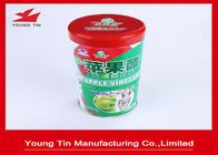 China 3 layers Metal Cylinder Round Coffee Tins Box Artwork CMYK Printed Shiny Finish factory