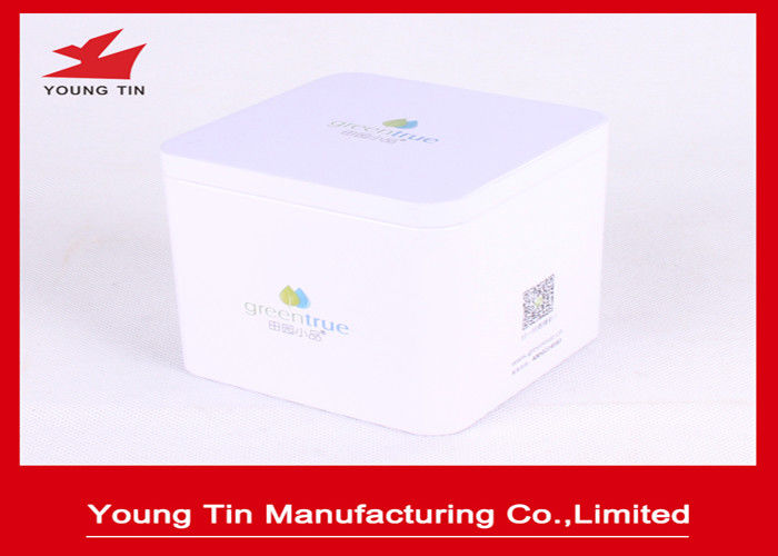 Recyclable Square Metal Tea Storage Packaging Tins Box With Personalized Lid