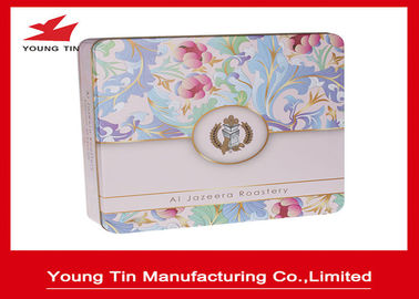 China Empty Biscuits Packaging Square Metal Tins factory