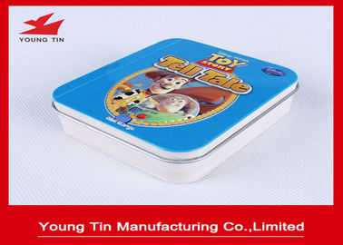 China Eco - Friendly Square Metal Tins With Hinges On Lid Top , Metallic Tinplate Mints Tin Box factory